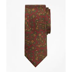 Brooks Brothers Ancient Madder Paisley Print Tie (7.575 RUB) ❤ liked on Polyvore featuring men's fashion, men's accessories, men's neckwear, ties and burgundy