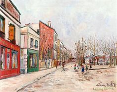 Suburban Street Artwork by Maurice Utrillo Hand-painted and Art Prints on canvas for sale,you can custom the size and frame