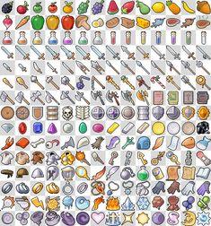 RPG Pixel Art Sprites items | RPG Icons: