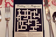 Classy & Customized Wedding Crossword Puzzle perfect by rubiazul, $30.00