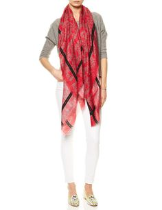 Lace Print Scarf by Vassilisa