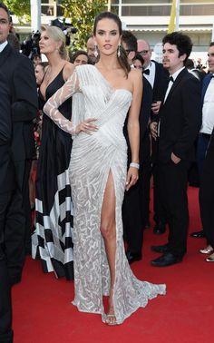 Alessandra Ambrosio in Versace at Cannes Film Festival