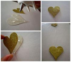 Gold Heart Garland DIY