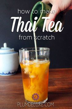 We show you how to make Thai tea from scratch in your own home with this deliciously simple recipe. - Education and lifestyle Thai Tea Recipes, Milk Tea Recipes, Iced Tea Recipes, Coffee Recipes, Thai Iced Tea Recipe Coconut Milk, Thai Iced Tea Recipe From Scratch, Thai Tea Latte Recipe, Drink Recipes, Thai Tea Boba