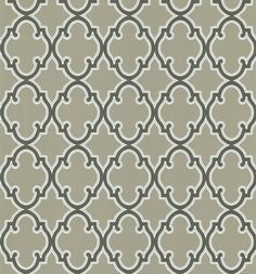 Amir Ironwork Wallpaper in Brown by Brewster Home Fashions