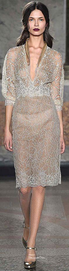 Milan Fashion Week.          Louisa Beccaria.           Fall/Winter 2015.           Ready-To-Wear.