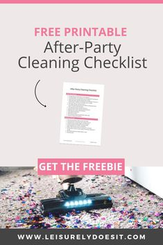 After-Party Cleaning Checklist: How To Clean Up After A Party Household Cleaning Schedule, Car Cleaning Hacks, Deep Cleaning Tips, Cleaning Checklist, House Cleaning Tips, Spring Cleaning, Cleaning Routines, Cleaning Schedules, Cleaning Solutions