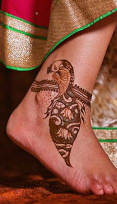 Indian bridal mehndi design, even representing the bidaai, or her entry into the next important phase in her life.