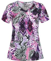 Jockey Scrubs Animal Rug Pink Print Top Style # J2327AP #pantone2014radiantorchid #uniformadvantage #scrubs #jockeyscrubs