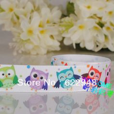 Free Shipping 10 yards beautiful owl printed grosgrain ribbon,Cut owl gift ribbon-in Ribbons from Apparel & Accessories on Aliexpress.com $4.70
