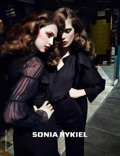 sonia rykiel3 Anais Pouliot & Caroline Brasch Nielsen Are Parisian Glam for Sonia Rykiels Fall 2012 Campaign