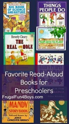 Favorite Read-Aloud Books for Preschoolers.  Good books for forming your home preschool curriculum!