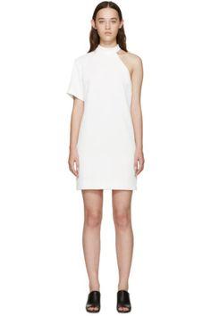 Nomia - White Cut-Out Shoulder Dress