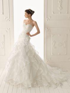 Mermaid Wedding Dresses 2013 | ... Mermaid 2013 New Wedding Dress with Lavish Ruffle Skirt - Wedding