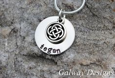 Irish Hand Stamped Mommy Necklace by galwaydesigns on Etsy, $25.00