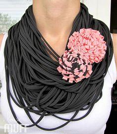 gray spaghetti scarf