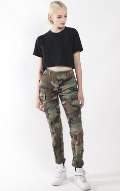 Vintage Re-Work Camo Jogger Pants