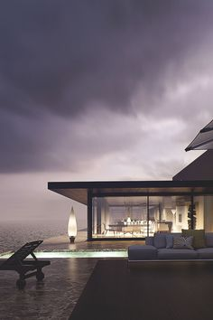 "thelavishsociety: ""House at the Beach by Santi Sanchez 