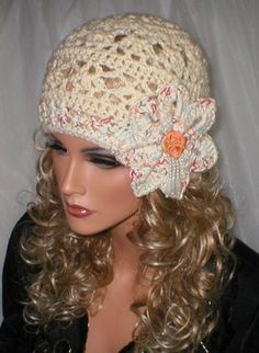 Beautiful Crochet Flapper hat. - I love this hat