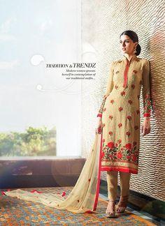 Tan Brown Georgette Salwar Kameez ,Indian Dresses