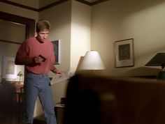 2x04 - Sleepless  Mulder, I know its the 90s and all, but did you need to be the entire 90s? I was going to make a joke about how you came in costume as Jerry Seinfeld, but then I went off on a mental tangent and now Im angry that both shows are off the air and we will never get the justly-deserved AU in which Scully is Elaine, Skinner is Costanza, and Krycek is Kramer.
