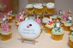 Princess Peppa Pig bespoke cupcakes toppers and customised signage.  PLAN A Party Co. London Party Planners for Stylish Children's Parties & Family Events.
