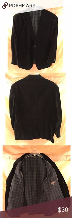 Men's Merona Velvet Blazer Men's Merona black velvet blazer for sale. Great blazer that can be dressed up or down. Very stylish! Merona Suits & Blazers Sport Coats & Blazers