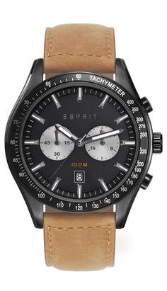 Esprit Ryan Brown Men's Watch Chronograph – StyleWearia Gents Watches, Sport Watches, Rolex Watches, Watches For Men, Wrist Watches, Bracelet Silicone, Watches Online, Casio Watch, Fashion Watches
