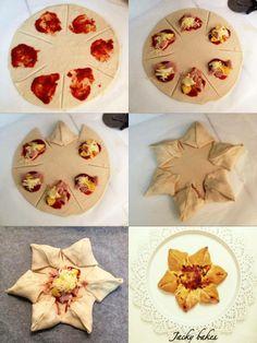 Pizza flower