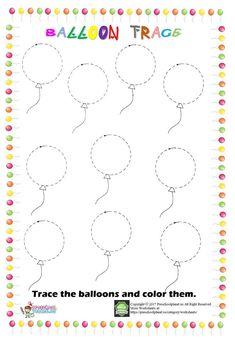 balloon trace worksheet