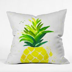 Pineapple Sunshine Throw Pillow