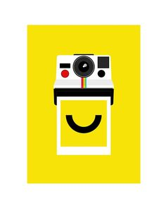 Polaroid poster print - Instant Smile - 50 x 70 cm large photography poster
