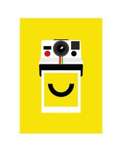 Polaroid poster print - Instant Smile. via @Etsy