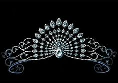Chopard, a jewelry house founded in 1860, tiara design that features hundreds of pear-shaped and round diamonds.