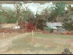 Richard Schmid New Paintings | Richard Schmid Paints the Landscape (осенний пейзаж ...