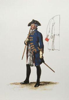 Prussia; Infantry Regiment Nr.11 (1806 von Schoning), Offizier by Adolph Menzel