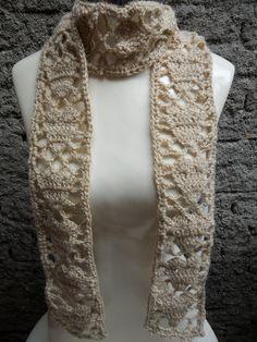 cachecol croche em lã corações www.facebook.com/artesdairis/?ref=bookmarks