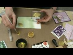 Card making: A Distress Ink Technique with Unity stamps & hero arts stamps - YouTube