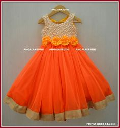 #Kids frock with Rich pearl hand embroidery designs by Angalakruthi boutique Bangalore Watsapp:8884347333