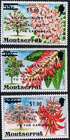 Montserrat 1977 Royal Visit Set Fine Mint SG 409 11 Scott 374 6 Other fine stamps Here