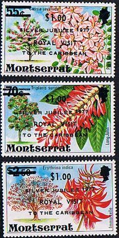 Montserrat 1977 Royal Visit Set Fine Mint SG 409 11 Scott 374 6 Other fine stamps Here