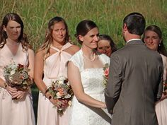 Outdoor fall wedding ceremony. Elizabeth + Patrick's Fall Wedding | Lenora's Legacy Estate www.lenoraslegacy.com