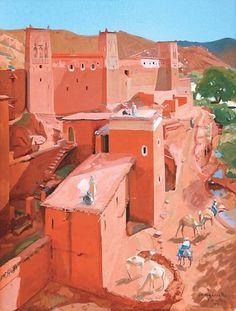 Jacques Majorelle - La kasbah d'Anemiter