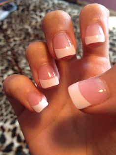 Gel !!! In love French Tip Acrylic Nails, French Tip Manicure, Manicure And Pedicure, Nice Nails, Fancy Nails, Pretty Nails, Gorgeous Makeup, Gorgeous Nails, Uv Gel Nails