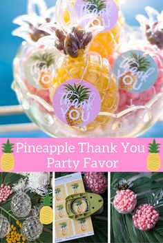 Guests will enjoy these party favors long after the party is over! Check out the Oriental Trading Company blog to see how @modernmoments crafted these adorable pineapple thank you favors.