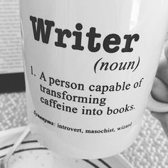 """963 Likes, 23 Comments - CoffeeReadingWriting (@coffeereadingwriting) on Instagram: """"Love this close up shot by @jenabrownwrites featuring our writer definition! • #crwmugsinthewild…"""""""