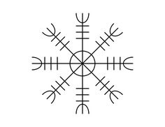 Aegishjalmur, a norse symbol worn by warriors in battle for protection. A tattoo idea.  | followpics.co