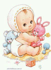 Mis Patrones Ruth Morehead® - Album nº 10 - Niñas Baby Images, Baby Pictures, Cute Pictures, Clipart Baby, Baby Painting, Fabric Painting, Cute Kids, Cute Babies, Baby Christening