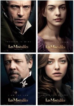 Les Misérables (2012) BEST cast ever. they sang those songs even better than the broadway stars that made this show famous. And the movie performances, and they way it was filmed was amazing.