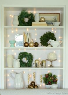 7 holiday shelfies ideas for small space festive decorating
